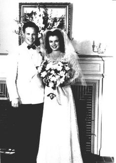 The sweet 16 Norma Jeane getting married for the first time to James Dougherty