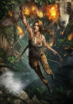 Lara Croft is a fictional character and the main protagonist of the video game series Tomb Raider by Japanese video game publisher Square Enix. Lara is Tomb Raider Video Game, Tomb Raider 2013, Raider Game, Raiders Stuff, Raiders Fans, Tomb Raiders, Free Sprites, Tomb Raider Lara Croft, Japanese Video Games