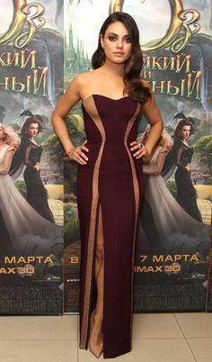 Mila Kunis in Atelier Versace at the Oz the Great and Powerful premiere in Moscow