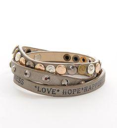 Rafa armband met tekst love-hope-happines - NummerZestien.eu