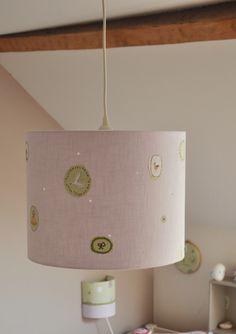 Luminaires r alisation sur mesure d 39 un abat jour suspension tambour gran - Suspension tv murale ...
