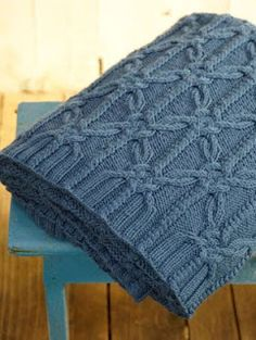 """""""Textured Knots"""" throw blanket ~ knitting pattern by Norah Gaughan Crochet Afghans, Knit Or Crochet, Knit Rug, Scarf Knit, Knitting Stitches, Baby Knitting, Knot Blanket, Knitting Patterns, Crochet Patterns"""