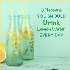 Lemons aren't just a cute garnish for your glass! You should be gulping lemon water down daily, and we've got 5 reasons why. Your health will thank you.