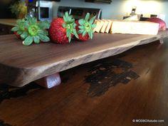 Cutting Board Walnut Wood Cheese Tray Bread Board by MODBOX, $44.00
