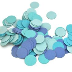 Shades of Blue Party Confetti - Wedding Decoration - Bridal Shower Decor - Boy Baby Shower - Birthday Party Decoration. $4.25, via Etsy.