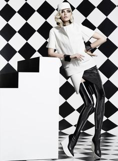Star Struck's Black and White August 2012 issue  Photographed by Moo. Styled by George Antonopoulos.
