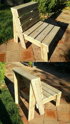 DIY Reclaimed Or Pallet Wood Is Perfect For This Robust And Comfortable Outdoor Chair