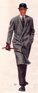 Vintage 1920s man illustration.