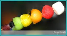 St Patrick's Day - Part Four  rainbow  pot of gold  fruit skewers