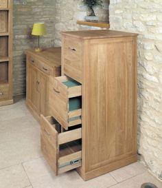 baumhaus mobel oak 3 drawer filing cabinet