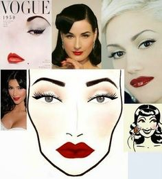 Retro Makeup makeup wistful eyes, radiant lip colors, little eyeshadow applied, peaches and cream come to mind the 1950 Makeup, 1950s Hair And Makeup, Retro Makeup, Vintage Makeup, Eye Makeup, Hair Makeup, Makeup Art, 1940s Hair, Makeup Ideas