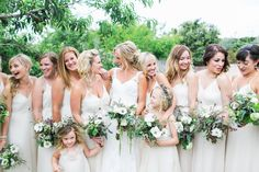Bridal Party. Garden Wedding. Wedding Photo Idea. San Diego Botanic Garden.