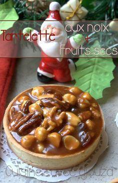 Tartelette aux noix, noisettes, noix de pecan et caramel beurre salé …