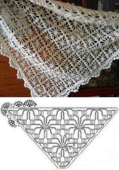 Crochet Coaster Pattern, Crochet Shrug Pattern, Crochet Diagram, Crochet Chart, Crochet Basics, Crochet Stitches, Modern Crochet Patterns, Easy Crochet Patterns, Crochet Designs