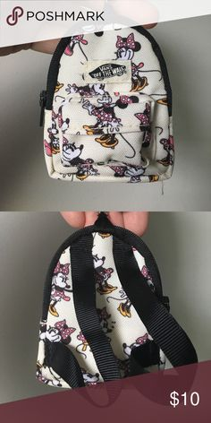Vans x Disney Minnie Mouse backpack keychain Vans Disney Minnie Mouse keychain backpack, never used. Vans Accessories Key & Card Holders