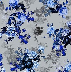Botanical inspired Blue vintage print project. Use as laid back luxe on denim or jersey. by Camilla Atkins 2014.