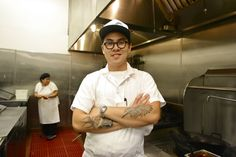 Chef Kris Yembamroong of Night + Market in West Hollywood in his kitchen.