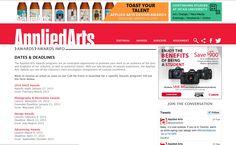 http://www.appliedartsmag.com/awards_info/ - Concurso de design, fotografia, marketing, etc para empresas com trabalhos publicados nestas áreas