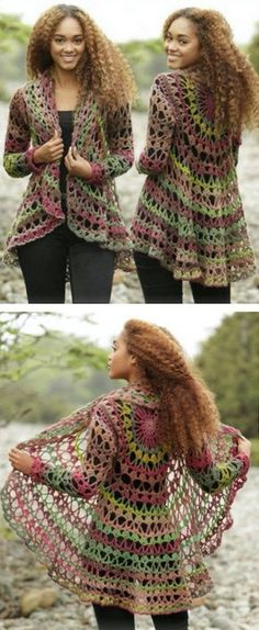 Crochet Diy DIY Crochet Lace Jacket Free Pattern Ideas - If you are on the hunt for a Crochet Lace Jacket Free Pattern, we have the best collection for you to select from. Check out all the versions now. Crochet Woman, Diy Crochet, Crochet Shawl, Crochet Baby, Crochet Ideas, Crochet Stitches, Crochet Circle Vest, Crochet Projects, Crochet Tops