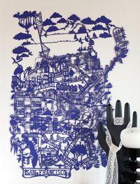 San Francisco Blue Paper Cut:  familessummerbelle.com    incroyable!