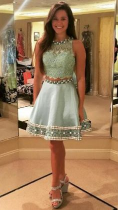 1684f6cda4144c Backless Lace Satin Short Mini Jewel A-line Sleeveless Homecoming  Short  Homecoming Dress