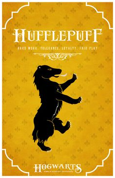 'House Hufflepuff Poster' by ~LiquidSoulDesign