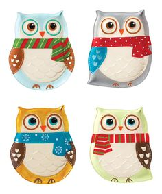 Snowy Owl Plate Set