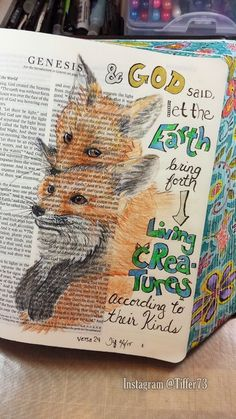 Tiffany's Garden Paper Crafts, Digital Stamps, Hand Made Cards, Country Living: Bible Journaling - Free download - Genesis 1:24 - Living Creatures