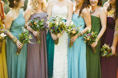 Jewel-tone bridesmaids