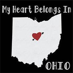 native  tshirt My heart belongs in OHIO state city home city