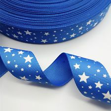 "DIY 5 yards 1"" 25 mm printed grosgrain ribbon pointed star Multicolor hair bow"
