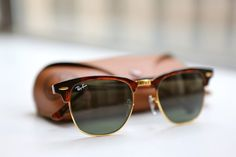 Ray Ban RB3016 Clubmaster Sunglasses Mock Tortoise Arista Frame