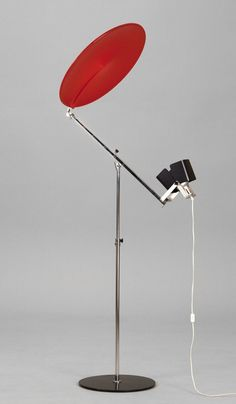 Yrjö Kukkapuro; #100A Floor Lamp by Haimi for the Milan Trienniale, 1968.