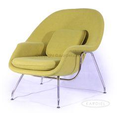 Womb Chair & Ottoman, Dijon Danish Cashmere Wool |