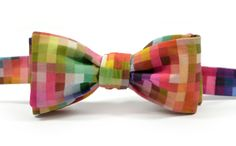 marthu PIXEL printed bow tie by marthu, via Behance