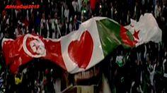 Tunisie vs Algérie 1 - 1 Préparation Coupe D'Afrique 2015 | Rades la Tunisie et l'Algérie match nul un par tout au Stade olympique de Radès pour la préparation du coupe d'Afrique 2015 prévu en guinée a partir du 17 janvier 2015. l'équipe nationale Algérienne a ouvert le score par son défenseur centrale Yacine cadamuro qui a reçu un carton rouge juste après le but devant sa surface de réparation, un coup-franc qui a permis au Tunisien d'égaliser a un but par tout