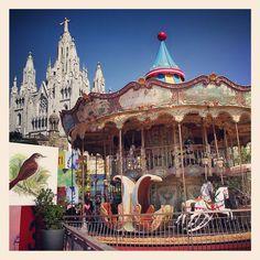 Tibidabo Amusement Park Barcelona Spain Carousel