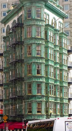 Cooper Facade Building in North Beach, San Francisco. Seen it a milion times never knew it was copper till now!