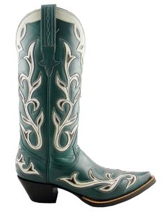 Heritage Boot » TURQUOISE HEARTS & VINES