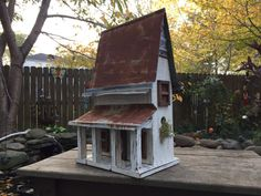 MUSCOGEE COUNTY FARM House Birdhouse...Duplex by BirdHouseDynasty