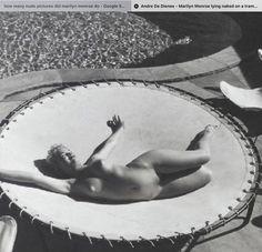 11b08a0b8e Marilyn Monroe nude pic on trampoline. Milton Knight photog Marilyn Moroe,  Marilyn Monroe Photos