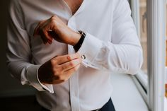Silver Mulberry cufflinks for this groom on his wedding day. Image by Sally Rawlins Photography. Wedding Groom, Wedding Day, Groom Cufflinks, Groom Style, Sally, Wedding Styles, Silver, Photography, Image
