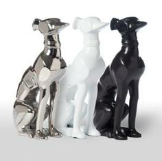 Decorative Greyhound Statue-Set of Two-Available in Three Different Finishes-FREE SHIPPING! $156.00 (USD)  from www.wellappointedhouse.com