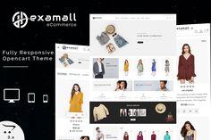 Hexamall - The Shopping Mall OpenCart Template Ecommerce Website Design, Website Design Layout, Website Design Inspiration, Web Layout, Layout Design, Design Ideas, Online Workout Videos, Website Themes, Website Ideas