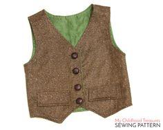 Boys VEST sewing pattern pdf, unisex vest pattern, boys sewing pattern pdf, VEST