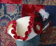 The White and the Red Pirate Tricorn Hat