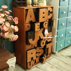 Wooden Alphabet Letter Drawer Pulls S.
