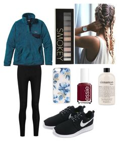 """Untitled #45"" by masha-anastasia on Polyvore featuring Donna Karan, Patagonia, NIKE, philosophy, Sonix, Forever 21 and Essie"