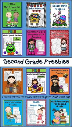 Freebies for 2nd grade--math for second grade