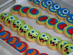 Monster Bash themed party @ Polka Dots and Pirates. These cookies are beyond cute!